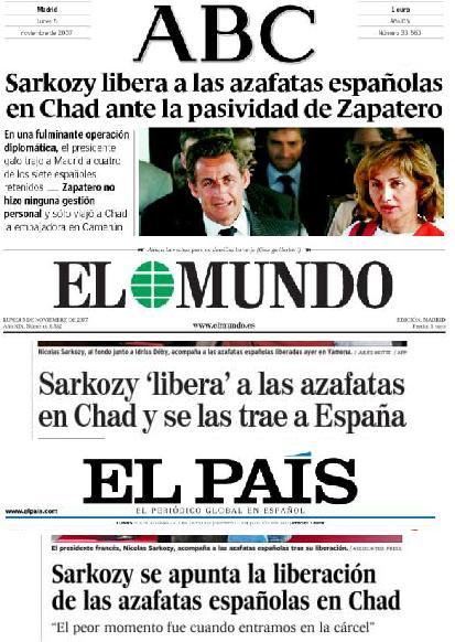 Azafatas y Sarkozy