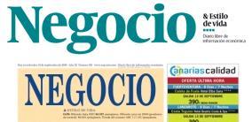 Evolución de la cabecera de Negocio.