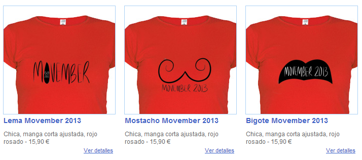 ¡Hazte ya con tu camiseta solidaria con el movimiento Movember2013!