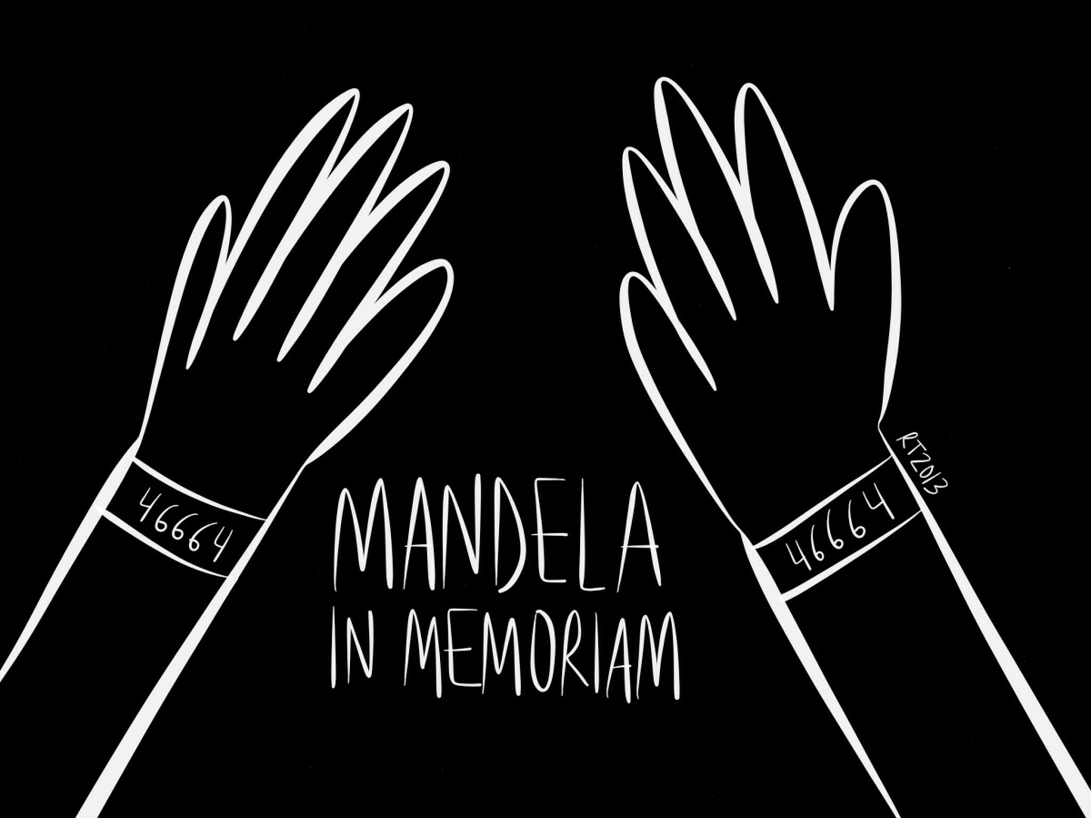 Mandela In Memoriam, viñetahomenaje