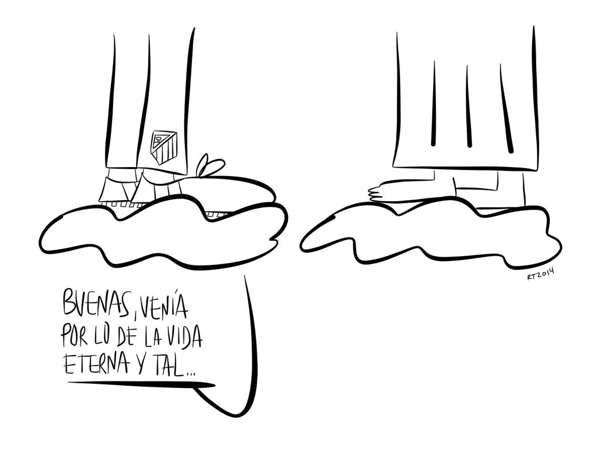 """Viñeta homenaje a Luis Aragonés, el """"Zapatones"""""""
