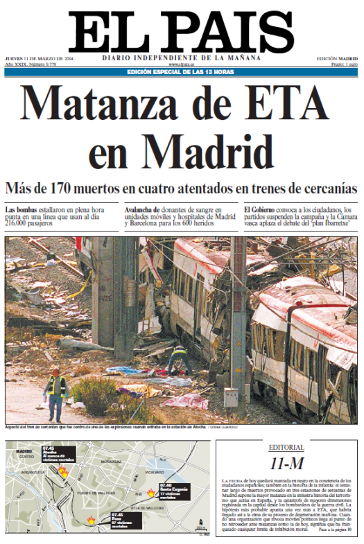 12 de marzo de 2004:
